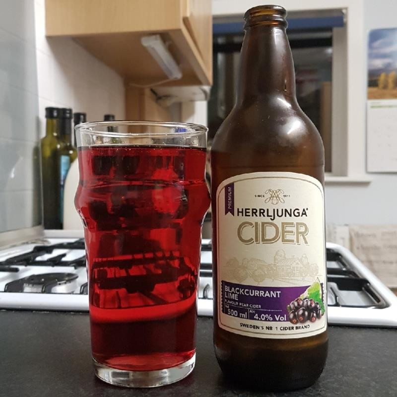 picture of Herrljunga Cider Blackcurrant & Lime Swedish Cider submitted by BushWalker