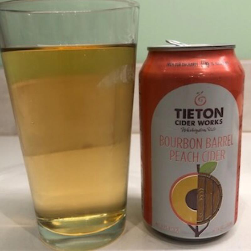 picture of Tieton Cider Works Bourbon Barrel Peach Cider submitted by david