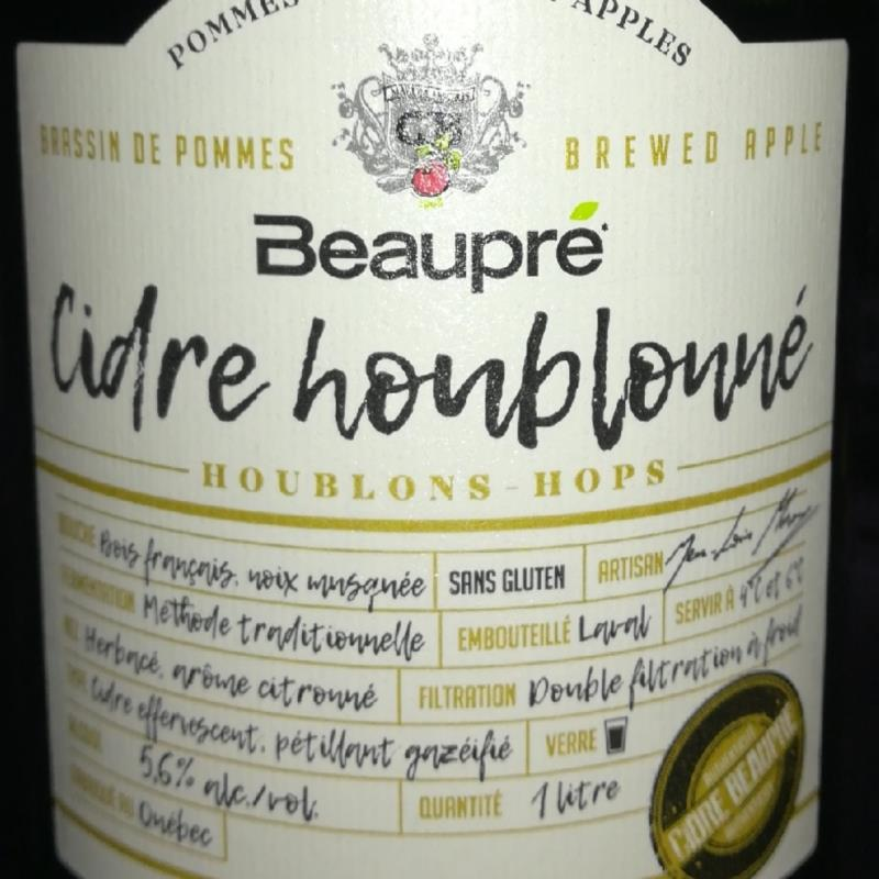 picture of Beaupré Cider Co. Cidre houblonnée submitted by NathanKendall