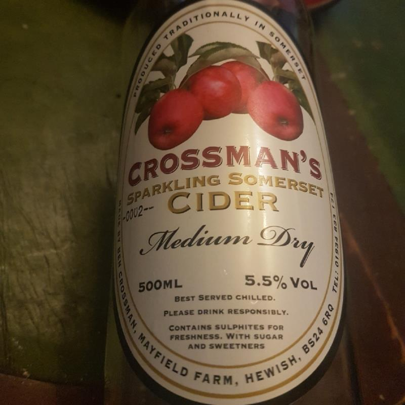 picture of Bem Crossman Crossman's Sparkling Somerset Cider submitted by Erisea