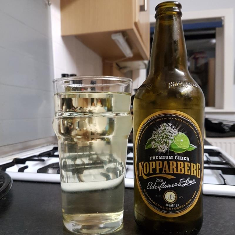 picture of Kopparberg Brewery Elderflower & Lime submitted by BushWalker