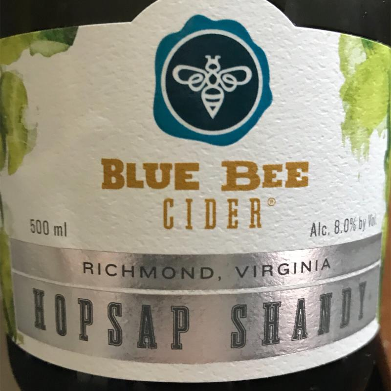 picture of Blue Bee Cider Hopsap Shandy submitted by Karibourgeois