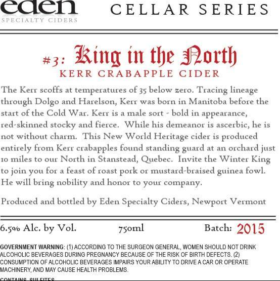 picture of Eden Cider King In The North (Cellar Series #3) submitted by KariB