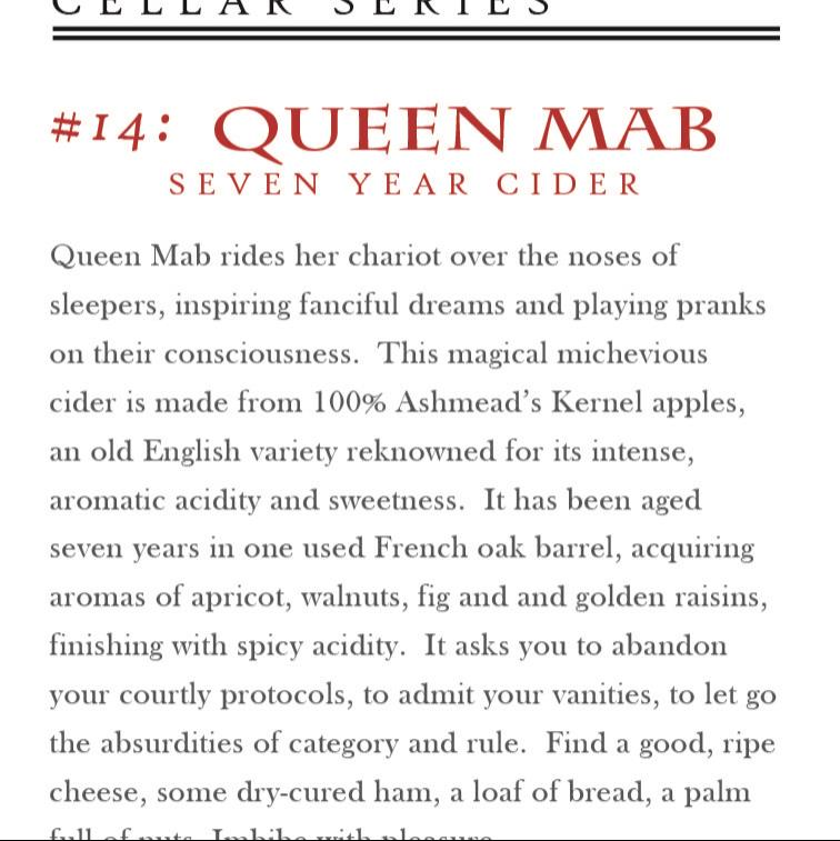 picture of Eden Cider Queen Mab (Cellar Series #13) submitted by KariB