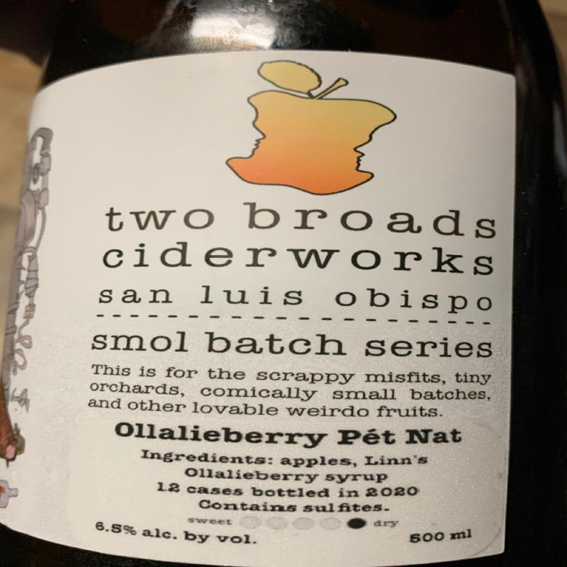 picture of Two Broads Ciderworks Smol Batch Series - Ollalieberry Pet Nat submitted by KariB