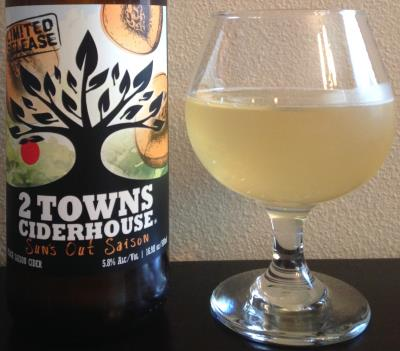 picture of 2 Towns Ciderhouse Sun's Out Saison submitted by cidersays