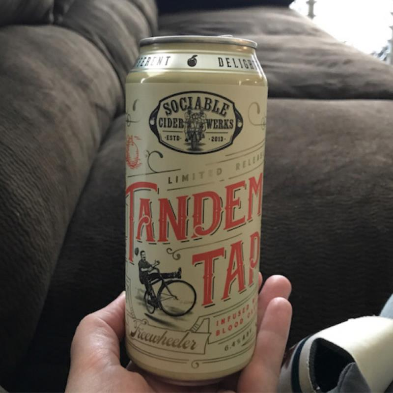 picture of Sociable Cider Werks Tandem Tap: infused with Blood Orange submitted by MaryDi