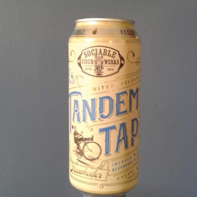 picture of Sociable Cider Werks Tandem Tap infused with blueberry & ginger submitted by Kaydi