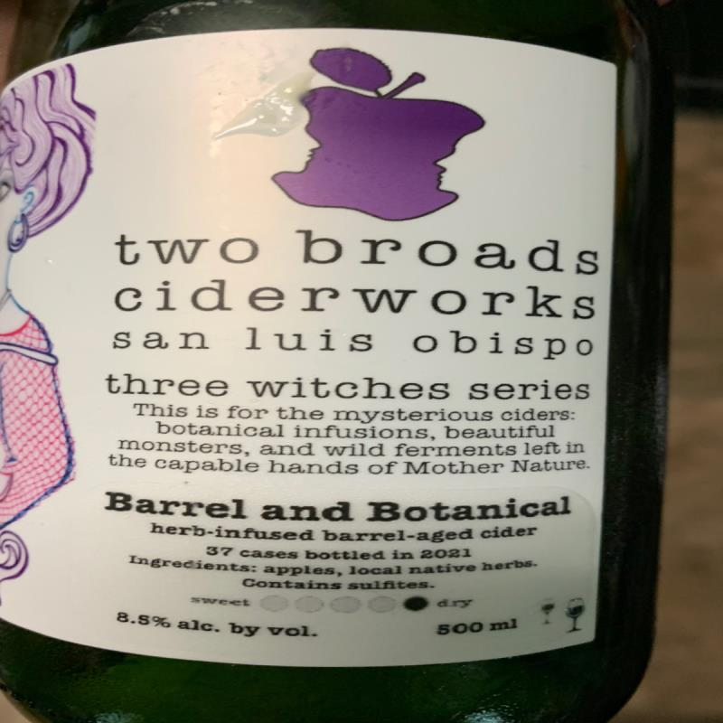 picture of Two Broads Ciderworks Three Witches Series - Barrel And Botanical submitted by KariB