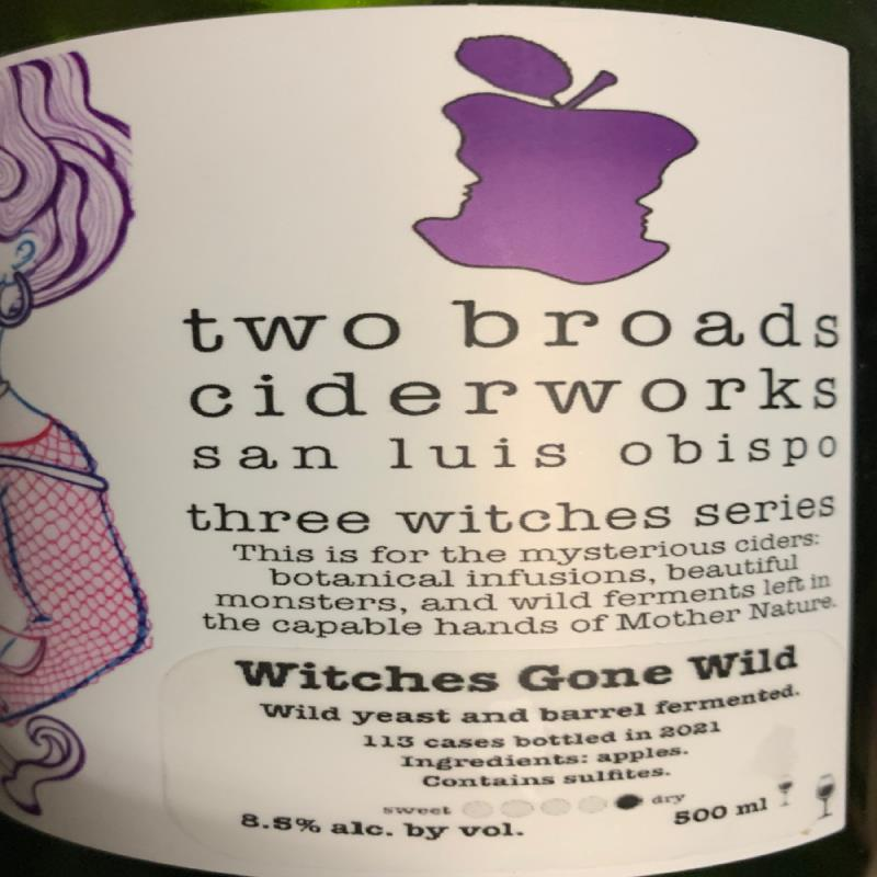 picture of Two Broads Ciderworks Three Witches Series - Witches Gone Wild submitted by KariB