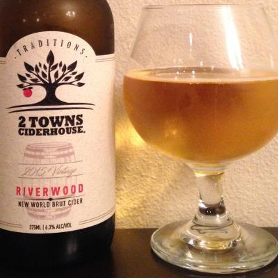 picture of 2 Towns Ciderhouse Traditions Riverwood New World Brut, 2015 Vintage submitted by cidersays