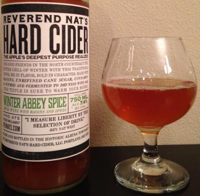 picture of Reverend Nat's Hard Cider Winter Abbey Spice (Providence) submitted by cidersays