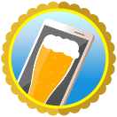 Badge earned for Cyber Drinker Level 3: Using app or site for 16 consecutive weeks